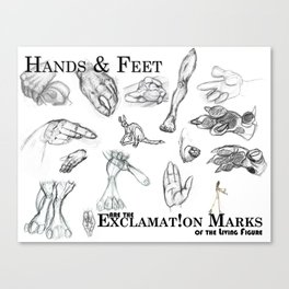 Hands and Feet Canvas Print