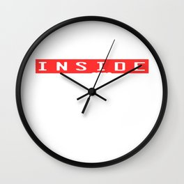 "A Nice Inside Theme Tee For You Who Loves Being Inside ""The Ghost Inside Full Speed Ahead"" T-shirt Wall Clock"