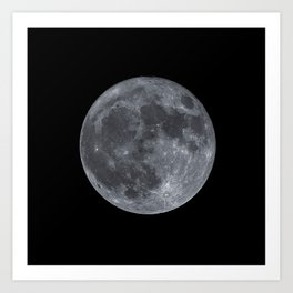 December Super Moon Art Print
