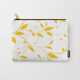 FLOWERY VINES | white yellow Carry-All Pouch