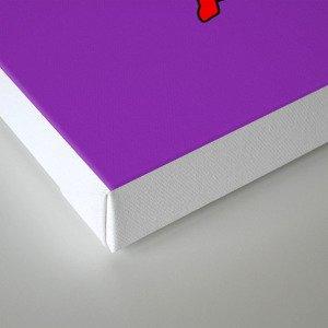 Outfits of Purple Fashion on Purple Canvas Print