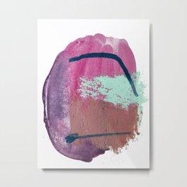Gumdrop: a vibrant minimal abstract mixed-media piece by Alyssa Hamilton Art Metal Print