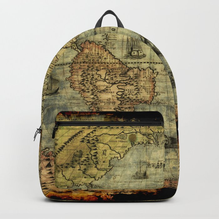 Vintage Old World Map Backpack By Onlinegifts Society6