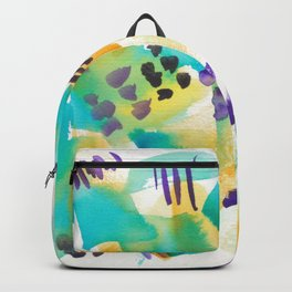180803 August Abstract 11| Colorful Abstract | Watercolors Brush Patterns Backpack