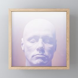 Thoughts purple Framed Mini Art Print