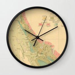 Vintage Geological Map of Juneau Alaska (1912) Wall Clock