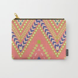 ZigZags in pink & blue Carry-All Pouch