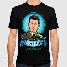 Saint Chet of the Disappeared Mens Fitted Tee 2X-LARGE Black