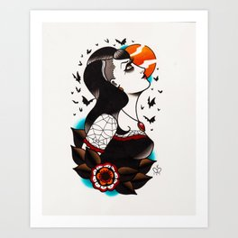Dream date  Art Print