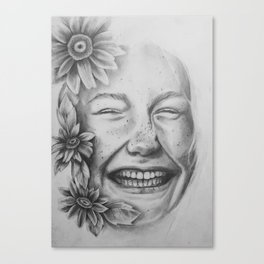 Sunflower Smiles Canvas Print