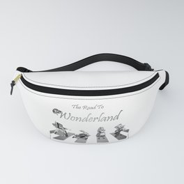The Road To Wonderland - Black & White Fanny Pack
