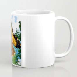 Swallowtail Butterfly on Zinnia Coffee Mug