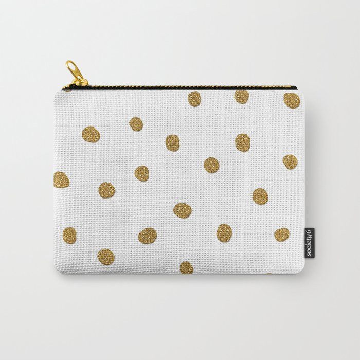 Golden touch II - Gold glitter polkadots Carry-All Pouch