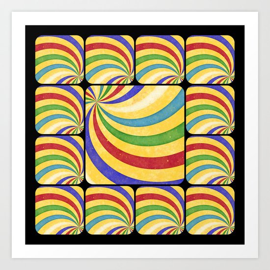 Spiral collage Art Print
