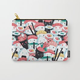 Kawaii Sushi Crowd Carry-All Pouch