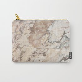 Polished Rose Marble Slab Carry-All Pouch