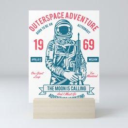 Outerspace Adventure 1969 Mini Art Print