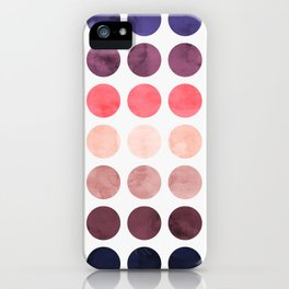 Colorful watercolor circles II iPhone Case