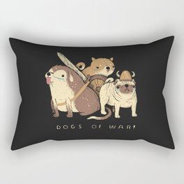 the dogs of war Rectangular Pillow