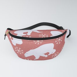 Polar Bears and Snowflakes Fanny Pack