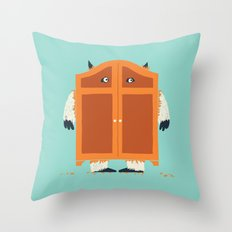Monster in the closet Throw Pillow