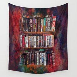 Stephen King Books on Shelves Wall Tapestry