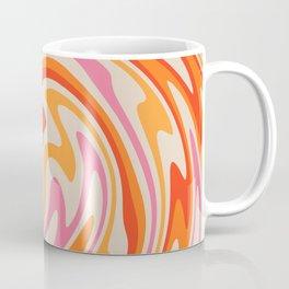 70s Retro Swirl Color Abstract Coffee Mug