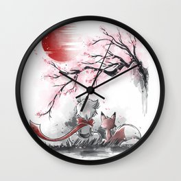 Sakura friends Wall Clock