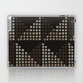 Layered Geometric Block Print in Chocolate Laptop & iPad Skin