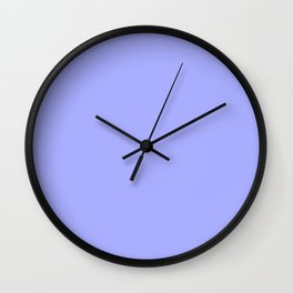 Pastel Periwinkle Blue Wall Clock