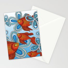 Peces en mi Jardin Stationery Cards
