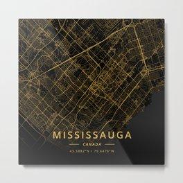 Mississauga, Canada - Gold Metal Print