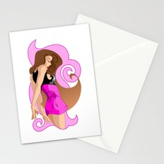 Just a Girl in Pink Stationery Cards
