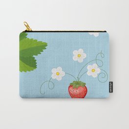 blue strawberry pattern Carry-All Pouch