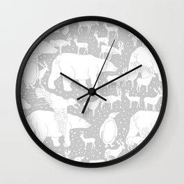 Polar gathering (latte) Wall Clock
