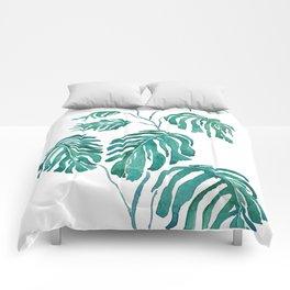 Monstera painting 2017 Comforters