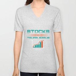Trading shares wallet economic Gift Unisex V-Neck