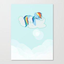 Rainbow Dash: Head in the Clouds Canvas Print
