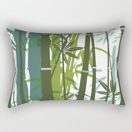 Bamboo wallpaper Rectangular Pillow