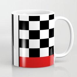 Red & Black Geometric Square Abstraction Coffee Mug