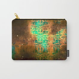 Old World Map Snake Skin Carry-All Pouch