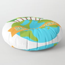 Save The Planet Shrits Environmental Awareness Earth Day Floor Pillow