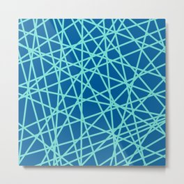 Lazer Dance Blue Metal Print