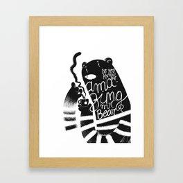 Mr bear Framed Art Print