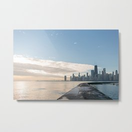 One December in Chicago Metal Print