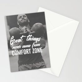 Great Things Never Came From Comfort Zones Stationery Cards
