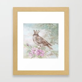 French Crown and Feathers Framed Art Print