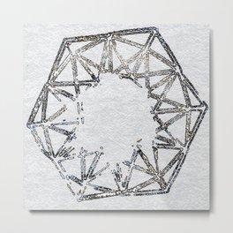 Melted geometry 2 Metal Print