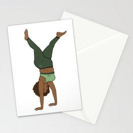 Melanin Yogi Handstand Flow • Thick Fit Yogi • Forest tone Yoga Stationery Cards