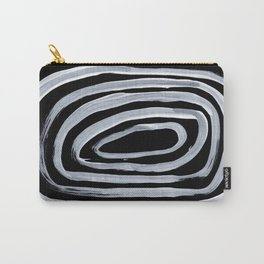 Rings Dark Gothic Black And White Minimalist Ghostly Abstract Art Carry-All Pouch
